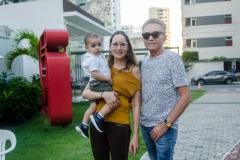 Enzo e Manoela Crisóstomo e Marcos Monteiro