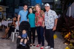 Reno Bertosi, Eduardo, Alessandra e Stella Rolim e Pio Rodrigues