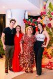 Marcelo, Regina e Consuelo Dias Branco e Julia Leal