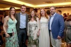 Cristiane e Fernando Gurgel, Emilia Buarque, Ticiana e Edson Queiroz