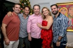 Abelardo, Claudio, Claudio, Lenise e Felipe Rocha