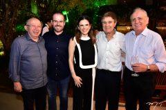Roberto Cláudio, Prisco e Niedja Bezerra, Jorge Parente e Walber Vieira