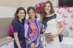 Lícia Bezerra, Niedja Bezerra e Ana Flávia Junqueira