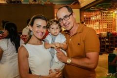 Camila, Daniel e Paulo Vieira