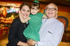 Denise, Athina e José Bastos