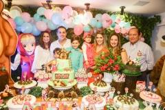 Márcia Andréa, Sarah Leal, Bruno, Henry, Athina e Rebeca Bastos, Silvinha e Rafael Leal