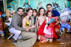 Felipe, Paulinha e Bento Rocha, Carol, Liz e Daniel Negreiros