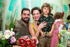 Felipe Rocha, Paulinha Sampaio e Bento Rocha
