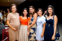 Zely Ramos,Natalia Nobrega, Larissa Luz ,Lia Vieira e Camila Egidio