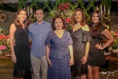 Lara e Helano Pinheiro,Marly,Silvana e Caroline Nogueira