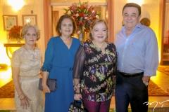 Lurdes e Doraci Nogueira,Eliane de Sá e Flavio Filgueiras