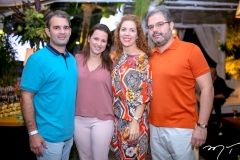 Abelardo e Viviane Rocha, Ticiane e Edson Queiroz Neto