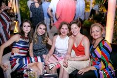 Karla Jereissati, Adriana Queiroz, Renata Jereissati, Paula Sampaio e Lenise Rocha