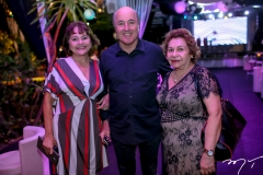 Sandra, Silvio e Nádia Frota