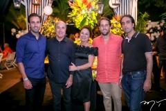 Vitor, Silvio, Paula, Rodrigo e Thomáz Frota