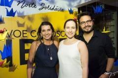 Márcia Travessoni, Bia Fiuza e Vinicius Machado