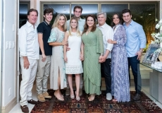 Arthur, Arthur, Célia e Bruna Magalhães, Ravi, Patrícia e Amarílio Macêdo, Fernanda Levy e Omar Macêdo