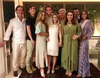 Arthur, Arthur e Célia Magalhães, Ravi Macêdo, Bruna Magalhães, Amarílio, Patrícia e Omar Macêdo e Fernanda Levy