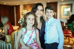 Gabriele, Fabiana e Luis Eduardo Lustosa