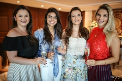 Livia Regis, Andressa Vasconcelos e Paloma Verçosa e Karen Vasconcelos