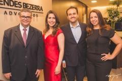 Ademar Mendes Bezerra Jr., Aline Borges, Emílio Guerra e Sofia Guerra