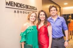 Érica Amaral, Aline Borges e Daniel Borges