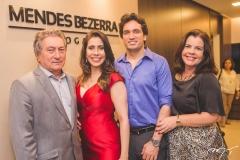 Euvaldo Bringel, Aline Borges, Daniel Borges e Eliane Brasil