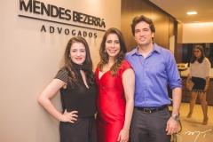 Lígia Mota, Aline Borges e Daniel Borges