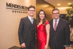 Rafael Saldanha, Aline Borges e Ademar Mendes Bezerra Jr.
