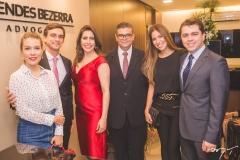 Raina Huland, Adriano Huland, Aline Borges, Ademar Mendes Bezerra Jr., Flávia Morais e Matheus Morais