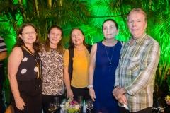 Viriato Memória, Andréa Câmara, Júlia, Cecília e Paulo Avelar