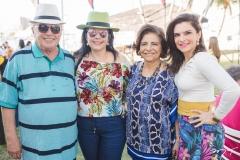 José Benevides, Sellene Câmara, Lúcia Lustosa e Fabiana Lustosa