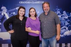 Aline, Ana Paula e Wilson Salmin