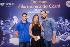 Carlos Herbert, Rafaela Pontes e Carlos Dourado