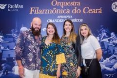 Daniel Pereira, Nívia Sampaio, Lara e Tatiana Costa