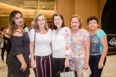 Giovana Gadelha, Olga Melo, Cecília Marques, Mirtes Gadelha e Rosa Cassundé