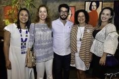 Natalia Martins, Ticiana Rolim Queiroz, Rafael Fujita, Liana Feingold e Priscilla Veras