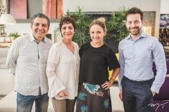 Roberto Dias, Lilia Quinderé, Claryanne Aguiar e Adriano Barbosa