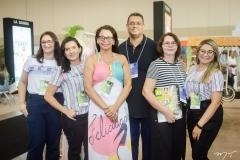 Rosane Marinho, Alice Mateus, Regina Vasconcelos, João Camacho, Célia Tavares e Ivânia Marcos
