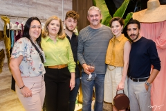 Daniele Weyne, Cassia e Lucas Lustosa, Milton Cunha, Paulinha Sampaio e Breno Braga