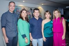 Regis Medeiros, Celina Castro Alves, Erick Vasconcelos, Circe Jane e Suemy Vasconcelos