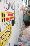 Pintura do muro da Casa Cor