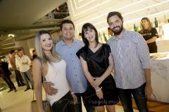Ivina, Victor e Caroline Figueira e Vitor Eleotério