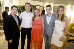 Pompeu Vasconcelos, Alexandre e Mariana Landim, Rodrigo Maia e Ana Virginia Furlane