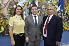 Adriana, Bruno e Wanderley Pedrosa