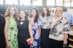 Nara Brandão, Mirla Vieira, Patrícia Meireles, Lívia Xerez e Cristina Costa
