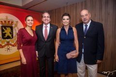 Manoela, Ricardo Bacelar, Márcia e Fernando Travessoni