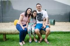 Sarah, Clarisse Xavier e Daniel Dias