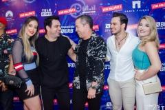 Camila Rossetti,  Luis Marcelo, Edmilson Filho, Gabriel e Ianca Marangoni