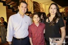 Fábio, Guilherme e Mara Porto
